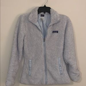 Patagonia light gray zip up jacket